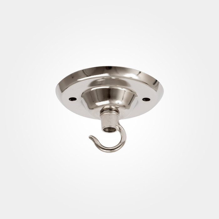 Industrial Ceiling Plate - Hook - Nickel