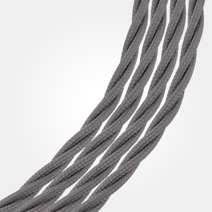 Dark Grey Braided Cable Flex