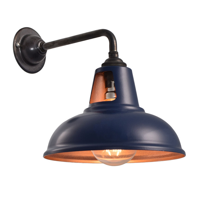 Fusion Wall Light - MATT Blue & Copper