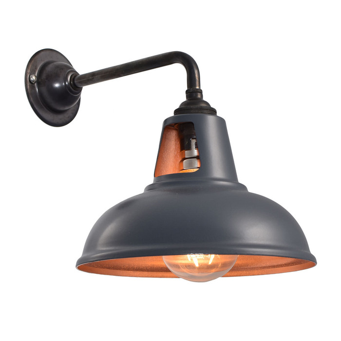 Fusion Wall Light - MATT Grey & Copper