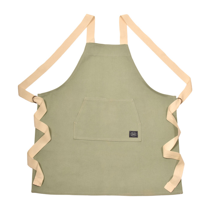 Denim Apron - Olive Green