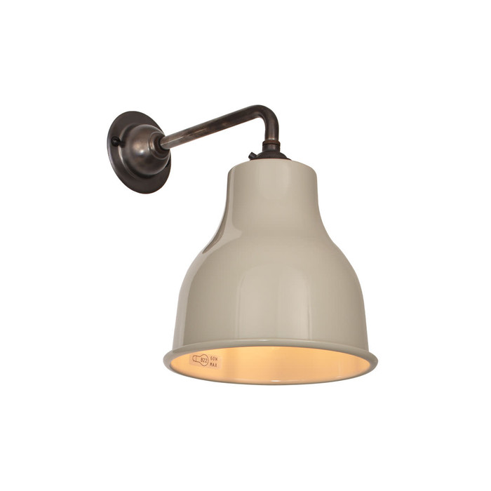 Factory Wall Light MK4 - Mid Grey