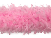 2 Yards - Light Pink Heavy Weight Chandelle Feather Boa | 80 Gram