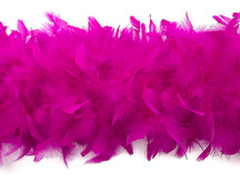 2 Yards - Hot Pink Heavy Weight Chandelle Feather Boa | 80 Gram