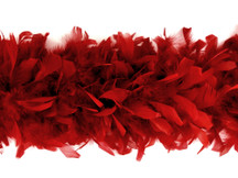2 Yards - Red Heavy Weight Chandelle Feather Boa | 80 Gram