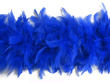 2 Yards - Royal Blue Heavy Weight Chandelle Feather Boa | 80 Gram