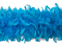 2 Yards - Turquoise Blue Heavy Weight Chandelle Feather Boa | 80 Gram