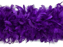 2 Yards - Purple Heavy Weight Chandelle Feather Boa | 80 Gram