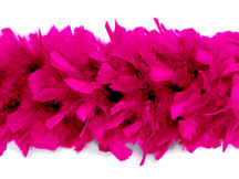 2 Yards - Hot Pink Heavy Weight Turkey Flat Feather Boa, 150 Gram