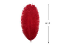 "10 Pieces - 8-10"" Red Ostrich Dyed Drabs Feathers"