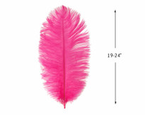"10 Pieces - 19-24"" Hot Pink Ostrich Dyed Drabs Body Feathers"