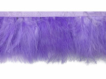 1 Yard - Lavender Marabou Turkey Fluff Feather Fringe Trim