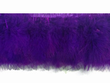 1 Yard - Purple Marabou Turkey Fluff Feather Fringe Trim