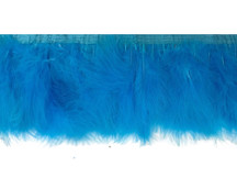 1 Yard - Turquoise Blue Marabou Turkey Fluff Feather Fringe Trim