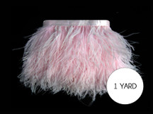 1 Yard - Baby Pink Ostrich Fringe Trim Wholesale Feather (Bulk)