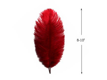 "10 Pieces - 8-10"" Burgundy Ostrich Dyed Drabs Feathers"
