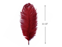 "10 Pieces - 11-13"" Burgundy Bleached & Dyed Ostrich Drabs Body Feathers"