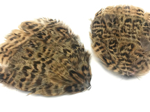 1 Piece - Natural Brown Partridge Hen Feather Pad
