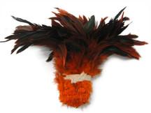 1 Yard bulk NAVY Half Bronze Strung Rooster Schlappen Wholesale Feathers