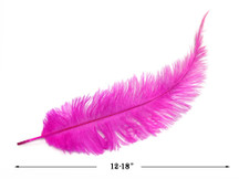 20 Pieces - Hot Pink Mini Spads Ostrich Chick Body Feathers