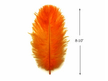 "10 Pieces - 8-10"" Orange Ostrich Drabs Feathers"