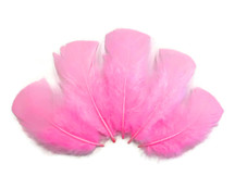 1/4 Lb - Candy Pink Turkey T-Base Wholesale Body Plumage Feathers (Bulk)