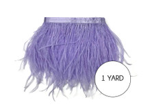 1 Yard - Lavender Ostrich Fringe Trim Wholesale Feather (Bulk)