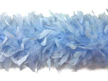 2 Yards - Light Blue Heavy Weight Chandelle Feather Boa | 80 Gram