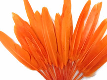1/4 Lb. - Orange Dyed Duck Cochettes Loose Wing Quill Wholesale Feather (Bulk)