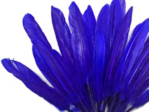 1/4 Lb. - Royal Blue Dyed Duck Cochettes Loose Wing Quill Wholesale Feather (Bulk)
