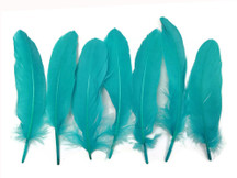 1 Pack - Peacock Blue Goose Satinettes Loose Feathers 0.3 Oz.