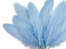 1/4 Lb -  Light Blue Goose Satinettes Wholesale Loose Feathers (Bulk)
