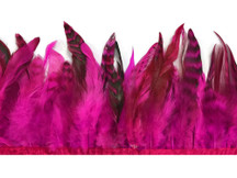 1 Yard - Hot Pink Chinchilla Rooster Schlappen Feather Trim
