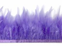 1 Yard - Lavender Rooster Neck Hackle Saddle Feather Wholesale Trim