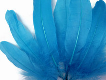 1/4 Lb - Turquoise Goose Satinettes Wholesale Loose Feathers (Bulk)