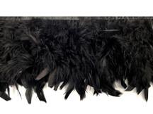 1 Yard – Black Chandelle Turkey Fluffy Feather Trim