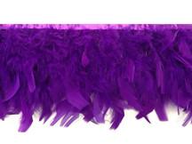 1 Yard - Purple Chandelle Turkey Fluffy Feather Trim