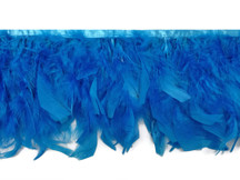1 Yard - Turquoise Blue Chandelle Turkey Fluffy Feather Trim