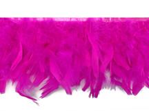 1 Yard – Hot Pink Chandelle Turkey Fluffy Feather Trim