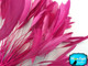 Bright pink slim cut rooster feathers