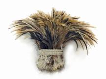 Golden Badger Strung Rooster Neck Hackle Wholesale Feathers (Bulk)