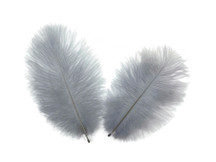 1 Pack - Silver Gray Ostrich Small Confetti Feathers 0.3 Oz