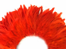 Tangerine orange dense strong strip of feathers for crafts