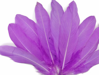 Light purple soft silky goose feathers for crafts