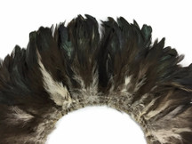 Black Bronze Natural Schlappen Strung Rooster Feathers