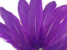 Purple Goose Satinettes Wholesale Loose Feathers