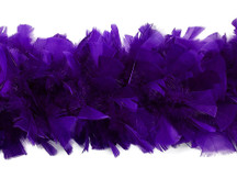 2 Yards - Purple Heavy Weight Turkey Flat Feather Boa, 150 Gram