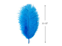 "10 Pieces - 11-13"" Turquoise Blue Ostrich Dyed Drabs Feathers"