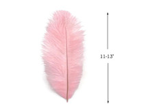 "10 Pieces - 11-13"" Baby Pink Ostrich Dyed Drabs Feathers"