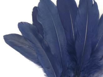 Navy Blue Goose Satinettes Wholesale Loose Feathers (Bulk)